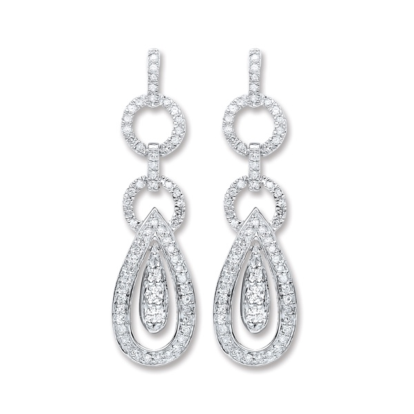 diamond drop earrings London