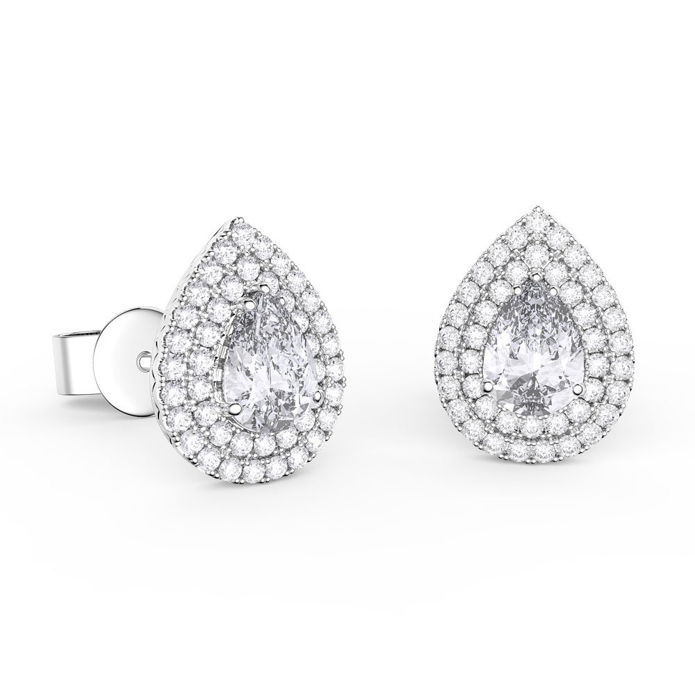 Diamond pear earrings London