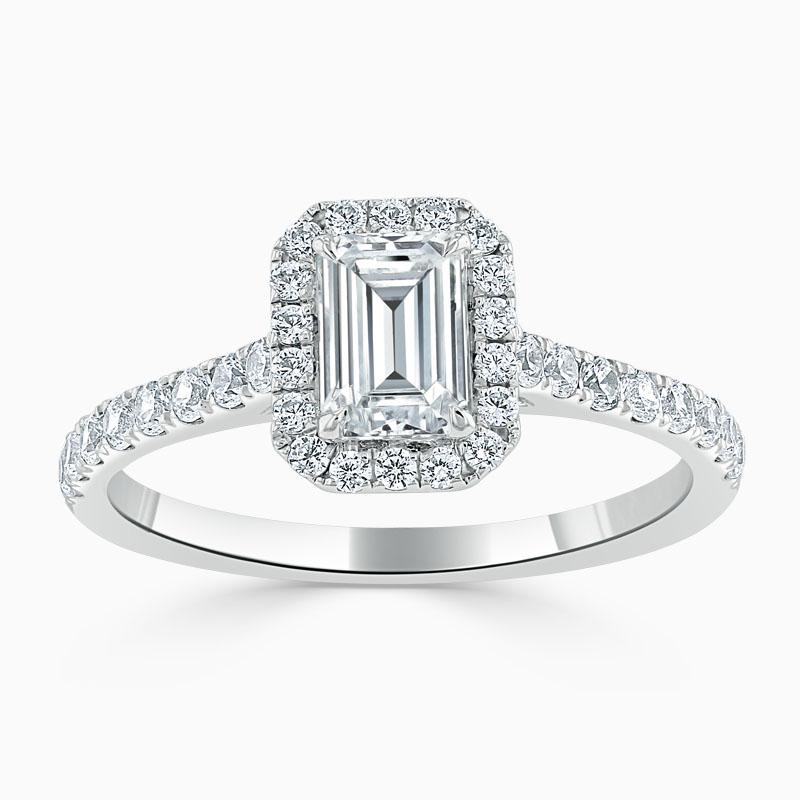 emerald cut diamond engagement ring uk