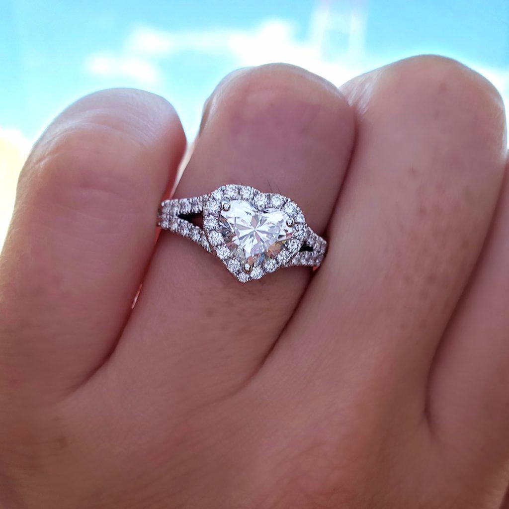 heart shape diamond ring UK