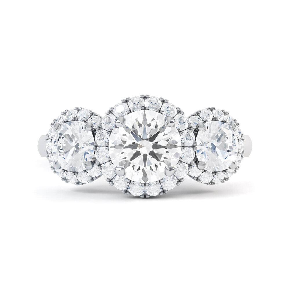 trilogy diamond engagement ring london