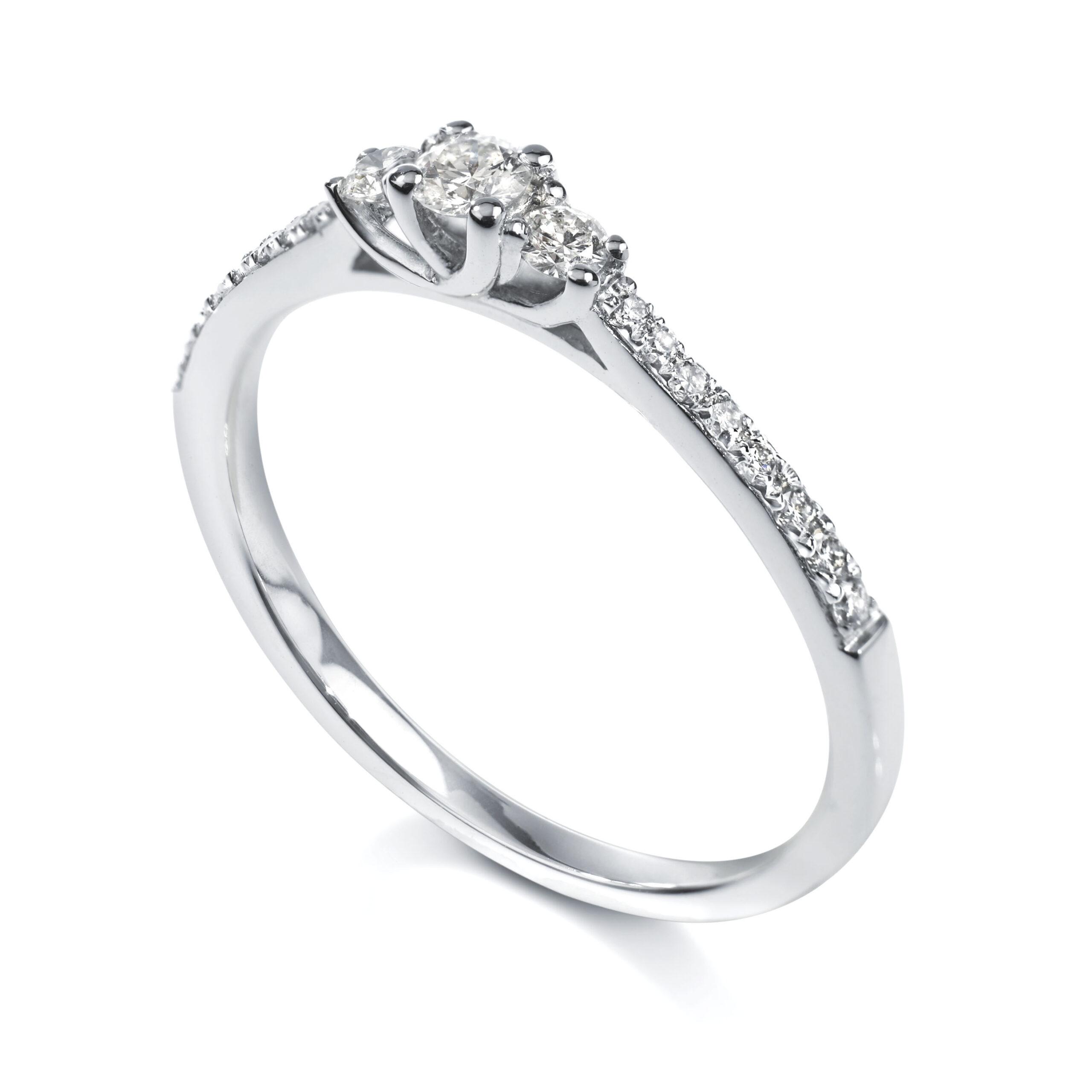 petite diamond engagement ring london